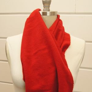 Fendi Unisex Solid Red Wool Scarf Wrap Made Italy